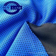 100% poliéster tejido de malla de panal de frialdad teñido por hilado para ropa deportiva