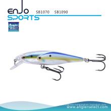 Angler Select School Fish Shallow Fishing Tackle Lure with Vmc Treble Hooks (SB1070)