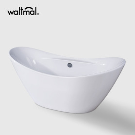 Acrylic double ended freestanding bathtub