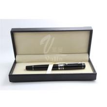 Выдвиженческий подарок черный металлическая ручка с коробке логотип компании