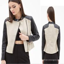 OEM 2015 Latest Fashion Design Women Leather Jacket