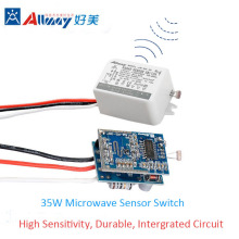 35W Square Radar Microwave Induction Sensor Switch
