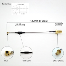 Freies nach Maß SMA zum IPEX-Koaxialkabel mit Kern