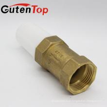 Gutentop alta qualidade latão primavera água válvula de retenção com malha de plástico com bom preço