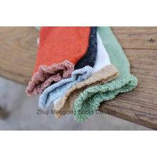 Novo estilo doce garota tripulação algodão meias com shinning laço cuff veery moda design