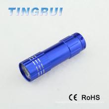 Portable Colorful mini pocket led light torch with 9pcs led