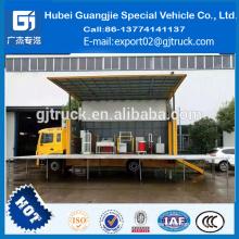 Etapa cuadrada del camión móvil de la etapa de 34 metros de China para la publicidad de la gira JAC 4x2
