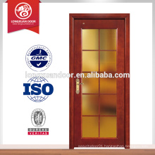 hot sales villa solid wood doors, glass solid wood door