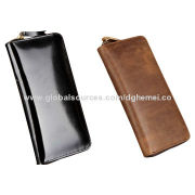 Men's Leather Wallets, Made of Genuine Leather, Classical Design, OEM and ODM Orders Welcomed
