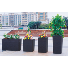 Modern outdoor rattan garden flower pot
