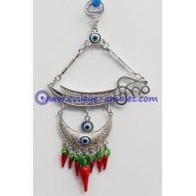 Blue Evil Eye Wall Car Hanging Amulet Ornament with a Sword for protection
