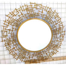 Golden Iron clear mirror MDF board Hanging Mirror