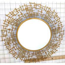 Золотое железо прозрачное зеркало МДФ доска Висячие зеркала