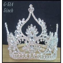 Silver kids princess tiara wholesale Hot Sale Beauty Girls Tiara Crown Pageant