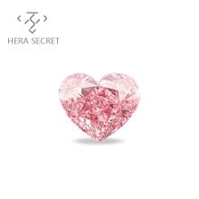 ForeverFlame fancy pink  Heart Cut diamond CVD CZ Moissanite