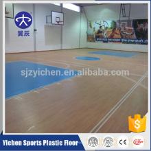 Buen rebote 100% pvc puro piso de baloncesto capa de desgaste para la venta