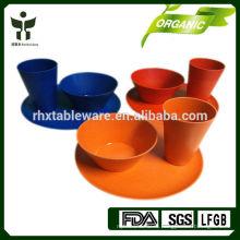 Экологичный ресторан Bamboo Fiber Посуда и наборы для столовых приборов 3шт.