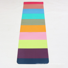 yugland colorful eco friendly Anti-Tear anti slip Stitching yoga mat double layer tpe yoga mat