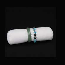 White PU Jewelry Bracelet Display Jewelry Roll (JR-RL-WL)