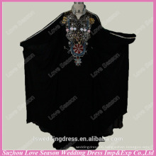 RP0051 Real black color colored beaded patterns muslim abaya designs prom dress muslim formal dress