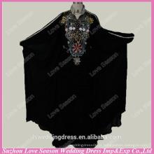 RP0051 Padrão real de cor preta com padrões de contas modelos de abaya muçulmanos vestido de formatura vestido muçulmano formal