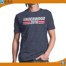 T-shirt en coton imprimé d'usine / publicité