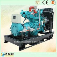 Ensemble de générateur de gaz refroidi par eau silencieuse de 40kw