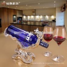 Heiße verkaufenharz kleine Hauptdekoration Luxuxqualitätshandanstrich-Goldharzweinzahnstange