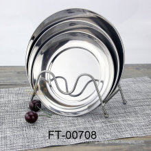 Stainless Steel Round Service Plate (FT-00708)