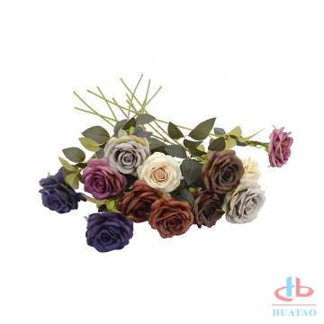 Tecido de seda de design diferente Rose Artificial Flower