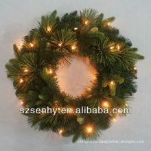 Navidad guirnalda de oropel con cable