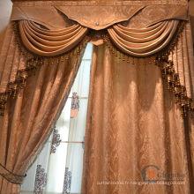 Fenêtre rideau en coton jolie conception de mode stores magnétiques