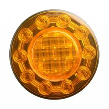 "100% Tahan Air 4 ""E4 LED Truck Round Indicator Lamps"