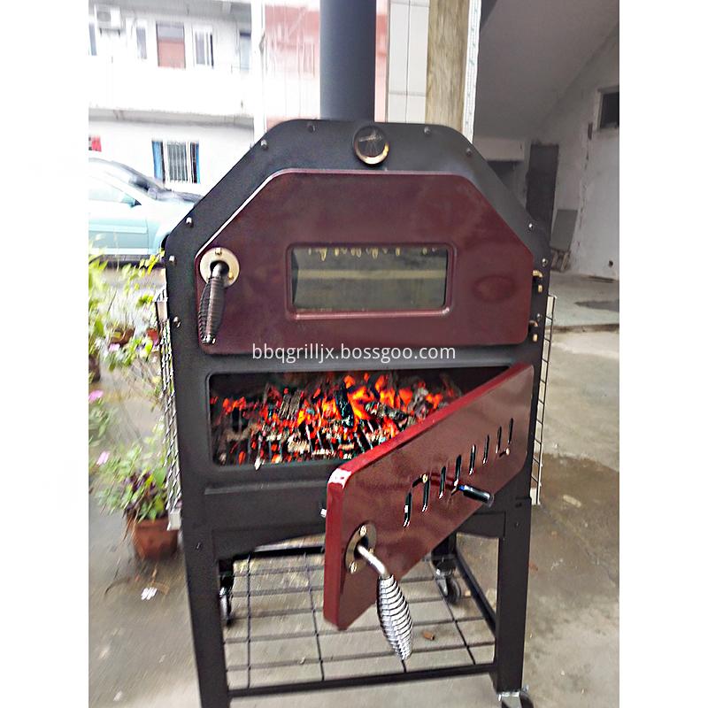 Pizza oven burning test finished