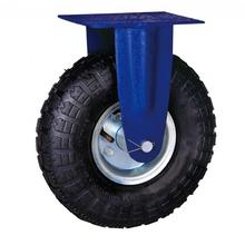 10'' heavy duty industrial pneumatic wheels rigid casters