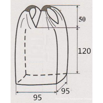 4 Loops PP Woven Bulk Bag for Sand and Cement