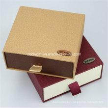 Papier en carton personnalisé Boîte à tiroirs / Boîte cadeau coulissante / Portefeuille et ceinture Emballage Boîtes cadeaux