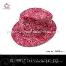 Moda Red Fedora Sombreros Venta al por mayor