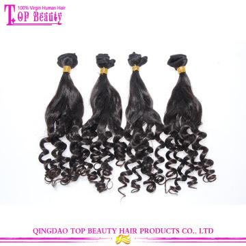 Haar-Produkte für das Jahr 2016 heißer Verkauf indische Tantchen Funmi Haar federnd locken