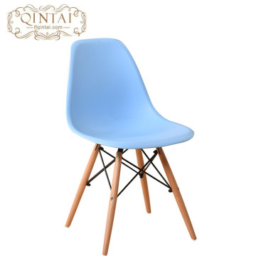 Wholesale Cheap Scandinavian look Nordic style Pretty Plastic and wood living room blue Chair