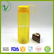 Tritan PCTG redonda vacía botella de agua transparente de 500 ml con impresión de pantalla de sil