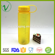 Tritan PCTG round empty clear 500ml water plastic bottle with sil screen printing
