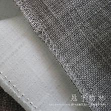 Revestido com tecido retardante de chamas sofá de linho