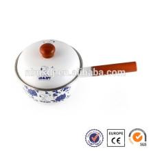 Alta qualidade e segurança pote de barro quente warmer & punho de madeira