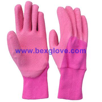 Color Cotton Liner, Latex Kids Garden Glove