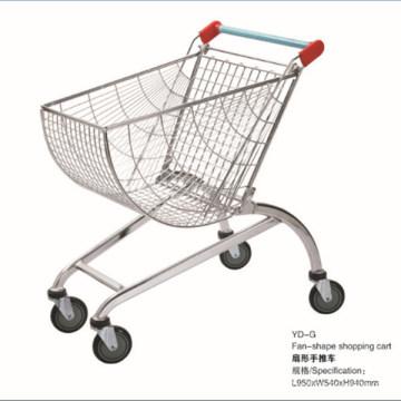 New Design Chrome Supermarket Shopping Trolley