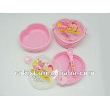 пластиковые дети коробка обеда формы сердца
