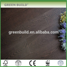 Smoked Black Handscraped Solid Engineered Walnut Wood Flooring
