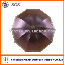 Paraguas de tres pliegues de 23 '' x 8K con protección anti-UV