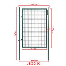 Jerman Metal Wire Pagar Home Yard Garden Gate